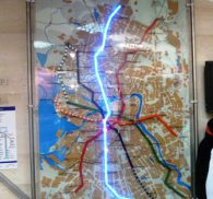 схема метро световая