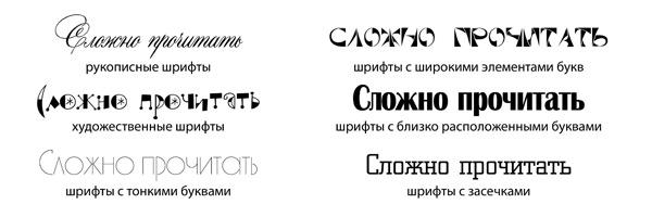 Сложночитаемый шрифт