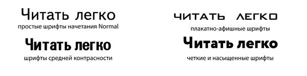 Легкочитаемые шрифты